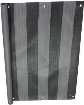 Angerer Balkonbespannung PE 90cm x 8m Blockstreifen grau