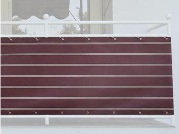 Angerer Balkonbespannung 75cm x 8m Streifen bordeaux