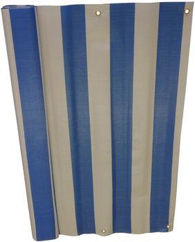 Angerer Balkonbespannung PE 75cm x 8m Blockstreifen blau