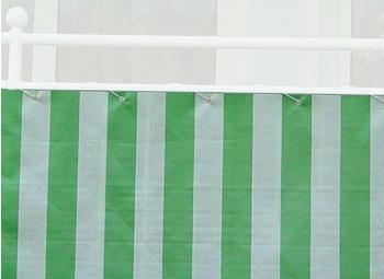 Angerer Balkonbespannung PE 90cm x 8m Blockstreifen grün