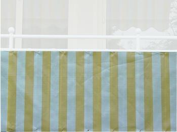 Angerer Balkonbespannung PE 90cm x 8m Blockstreifen gelb