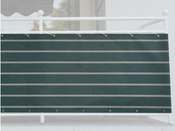 Angerer Balkonbespannung 75cm x 8m Streifen grün