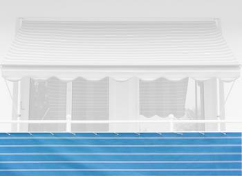 Angerer Balkonumspannung 75 cm blau-weiß