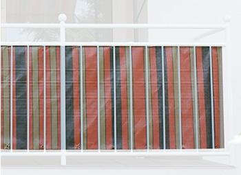 Angerer Balkonbespannung PE 90cm x 8m Streifen orange