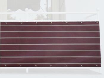Angerer Balkonbespannung 90cm x 8m Streifen bordeaux
