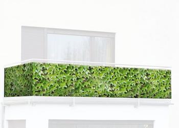 Wenko Balkon-Foto-Sichtschutz 500 x 85 cm Dekor Blumentrend