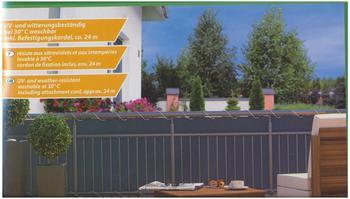 Home & Garden Balkonsichtschutz 6 m x 90 cm anthrazit