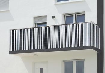 Floraworld Balkonverkleidung Comfort 0,9 x 3 m grau