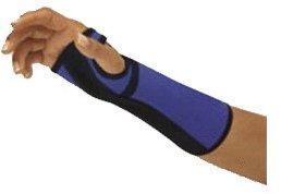 Bort Arm- und Handgelenkstütze mit Alu-Schiene links blau/schwarz Gr. L