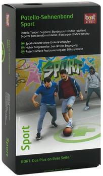 Bort Patella Sehnenband Sport schwarz/grün Gr.2