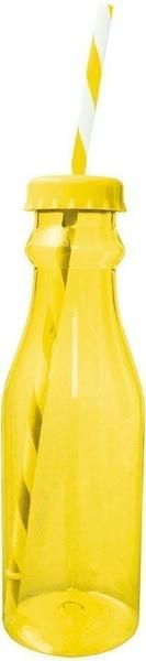 Zak Soda Flasche mit Trinkhalm 70 cl gelb