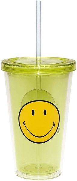 Zak Smiley Trinkbecher mit Trinkhalm 49 cl grün