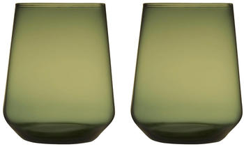 iittala Essence Wasserglas 35 cl moosgrün 2er Set