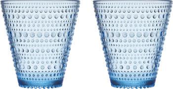 iittala Trinkglas Kastehelmi 2er Set Aquablau