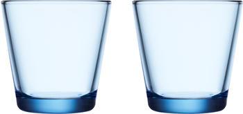 iittala Trinkglas Kartio 21 cl Aquablau 2er Set
