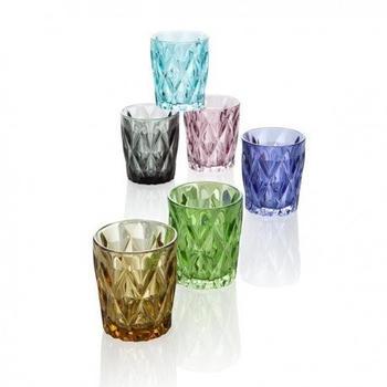 Brandani Gläser-Set Diamante bunt