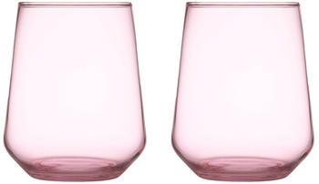 iittala Essence Wasserglas 35 cl hellrosa 2er Set