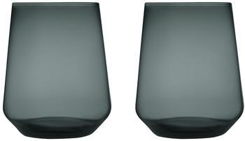 iittala Essence Wasserglas 35 cl dunkelgrau 2er Set