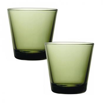 iittala Trinkglas Kartio 21 cl 2er Set moosgrün