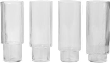 Ferm Living Ripple Longdrinkglas 0,3 l 4er-Set