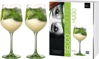 Eisch Hugoglas 640 ml 2er Set mit grünem Fuß