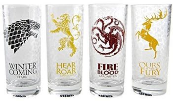 Close Up Game of Thrones Trinkglas Alle Häuser 4er Set