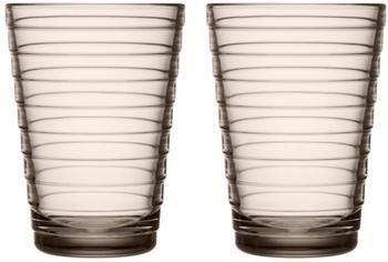 iittala Aino Aalto Trinkglas 2 Stk.,33cl/ Leinen