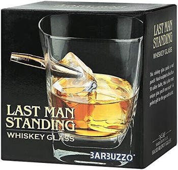 MAGS Mags Whiskeyglas Last Man Standing transparent, aus Glas/Metall, in Geschenkkarton.