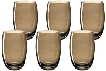 Leonardo Lucente Trinkglas braun 320ml 6er Set