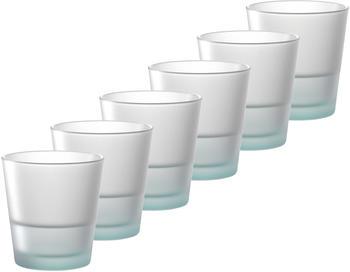 Leonardo Colorata Trinkglas klein 0,28l petrol 6er Set