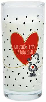 """Sheepworld 46230 Trinkglas mit Motivdruck:""""Wie schön, dass es dich gibt!"""""""