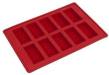 LEGO Eiswürfelform Baustein rot