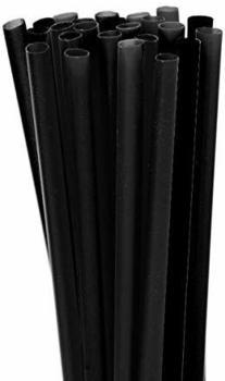 SIXBY 10.000 (40x250 St.) JUMBO Trinkhalme - mm Schwarz