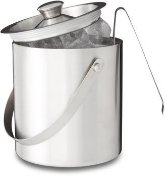 Relaxdays Eisbehälter mit Eiszange 2 Liter silber Erwachsene, 7190884