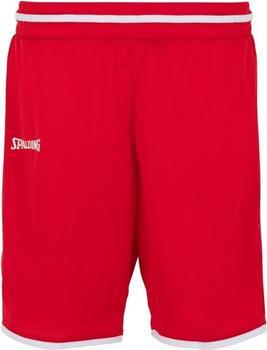 Spalding Move Shorts Damen rot/weiß