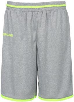 Spalding Move Shorts dark grey melange/fluo gelb