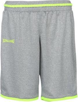 Spalding Move Shorts Damen dark grey melange/fluo gelb