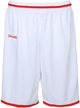 Spalding Move Shorts weiß/rot