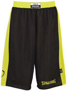 Spalding Essential Reversible Shorts Kids black/neon yellow