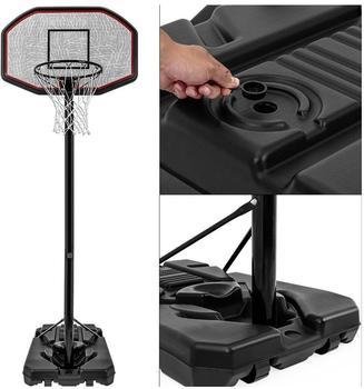 Deuba mobile basketball hoop with rolls - adjustable basket height 205 - max. 305cm
