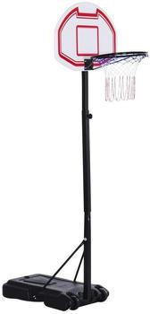 HomCom Kids mobile basketball stand - adjustable basket height 205-250cm