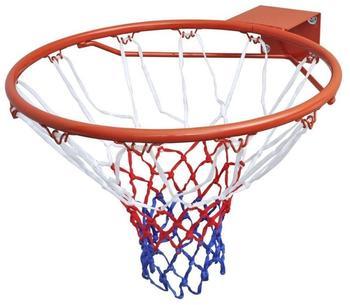 vidaXL Basketballkorb Set Ring mit Netz orange