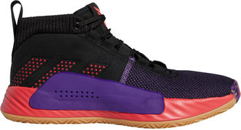 Adidas Dame 5 core black/shock red/active purple