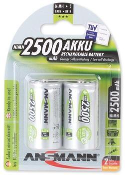 Ansmann C-Akku maxE HR14 1,2V 2500mAh (2 St.)