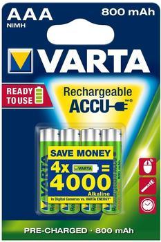 Varta Longlife Accu Ready2Use AAA 1,2V 800 mAh (4 St.)