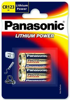Panasonic CR123A Photo Power Batterie 3,0 V 1400 mAh (2 St.)