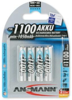 Ansmann 1100 Akku Rechargeable Battery 1,2V 1100 mAh (4 St.)