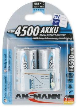Ansmann maxE Akku-Batterie HR14 NiMH 1,2V 4500 mAh (2 St.)