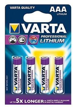 Varta Professional Micro AAA Lithium 1,5V (4 St.)