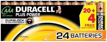 Duracell Plus Power AAA Micro LR03 Batterie 1,5V (24 St.)